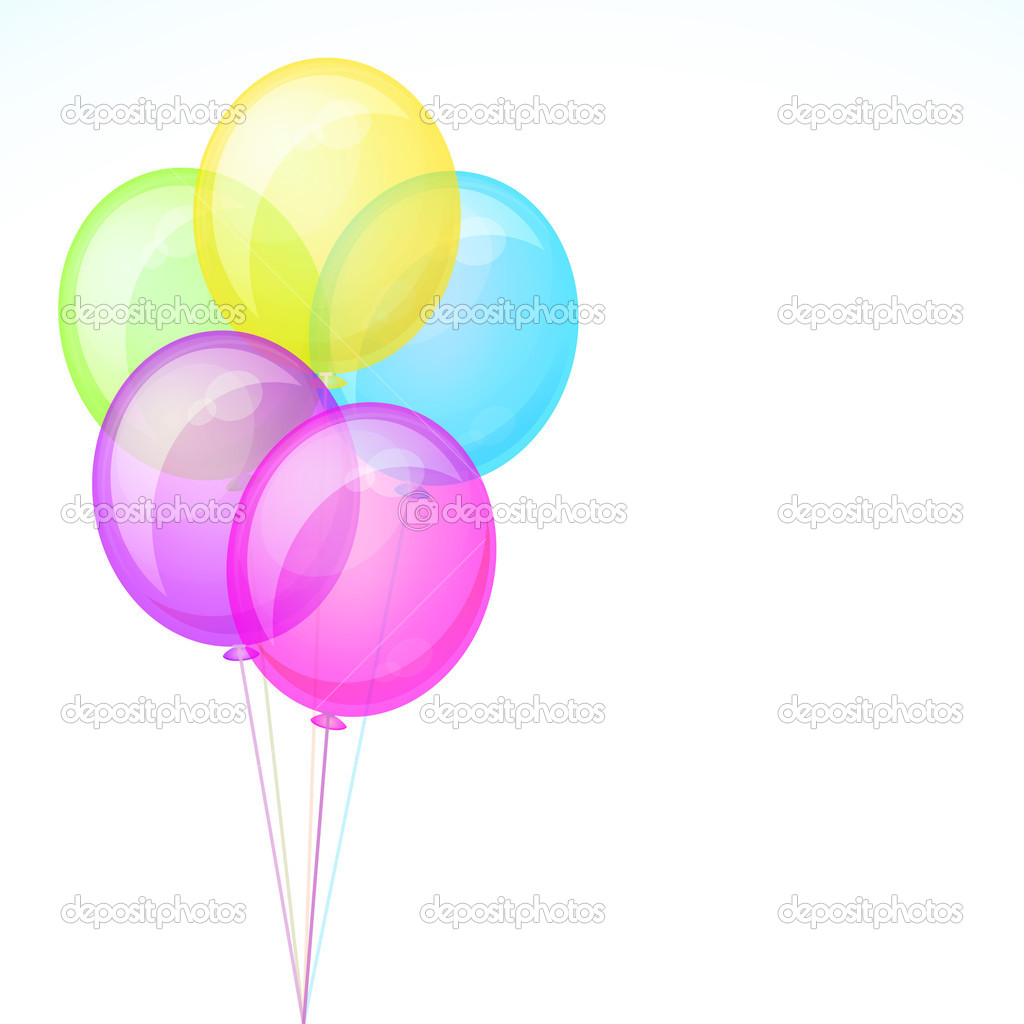 Birthday Celebration Balloons Isolated — Stock Vector © Olga