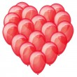 Royalty-Free Stock Vector Image: Red balloons heart.