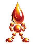 Oil man, icon, Eps10. — Stock Vector
