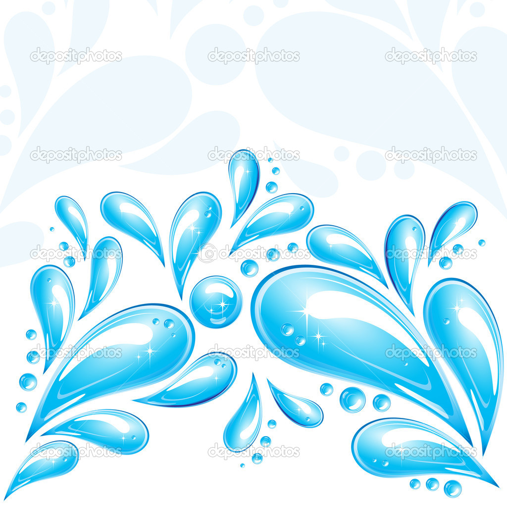Water drops - an illustration for your design project  Image vectorielle #3105848