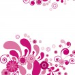 Vector. Pink flower. Floral background. — Vetorial Stock #3111597