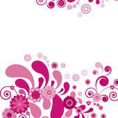 向量。粉红色的花。花卉背景. — 图库矢量图片