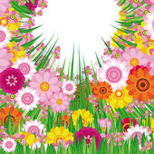 Easter Floral background — Stock Vector