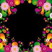 Blume-rahmen für das poster — Stockvektor