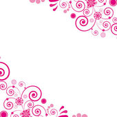 Vector. Pink flower. Floral background. — 图库矢量图片