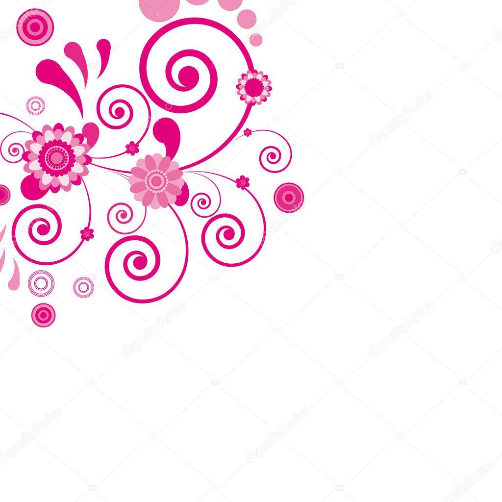 Vector pink flower floral background stock illustration