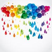 Raindrops. — Stock Vector