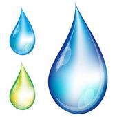 Set waterdruppels. — Stockvector