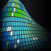 Abstract blue green background texture — Stockvektor
