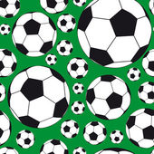 Seamless Background with soccer balls. — Stock Vector