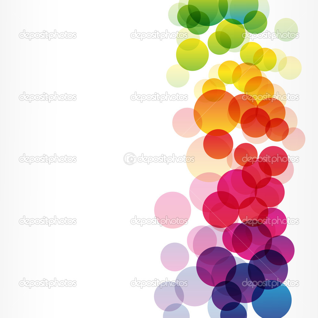 Colorful rainbow vector background — Stock Vector ...