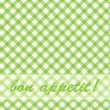 Pattern picnic green. — Vector de stock