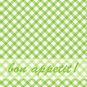 Pattern picnic green. — Stock Vector