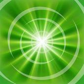 Bright Green rays — Stock Vector