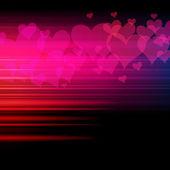 Eps полосой сердца фон — Cтоковый вектор