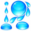 Eps Set of water drops and bubbles. - Stock Vector