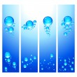 Eps Set of vertical banners with water bubbles. — Stock Vector