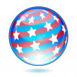 Eps USA America shiny button flag — Stock Vector