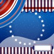Strs And Stripes - Fourth of July vector ribbon background. - 图库矢量图片