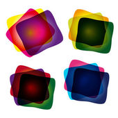 Set of multicolor abstract vector illustrations — Stock Vector