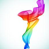 Bright Abstract colorful vector smoke. — Stock Vector