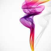 Abstract colorful vector smoke isolated on white. — Stock Vector