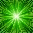Green ray of a star - Stock Vector
