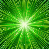 Green ray of a star — Stock Vector