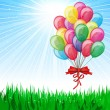 Beautiful Party Balloons Vector — Stock vektor