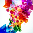 Royalty-Free Stock Vector Image: Abstract colorful floral background. Vector.