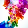 Abstract colorful floral background. Vector. — Stock Vector