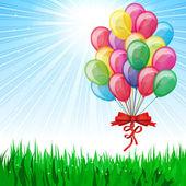 Beautiful Party Balloons Vector — Stock Vector
