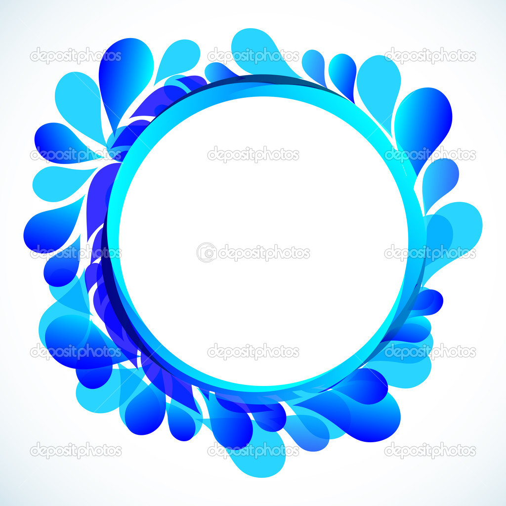 Abstract blue background with place for your text  Illustration for your design.  Stock Vector #3602656
