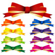 Royalty-Free Stock Imagem Vetorial: Bows collection isolated on white background