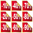 Royalty-Free Stock Vectorafbeeldingen: Set of sale stickers