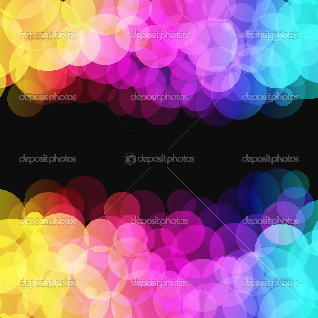 Vector illustration of blurred disco dots on dark background - Illustration for your design.  Stockvektor #3667930