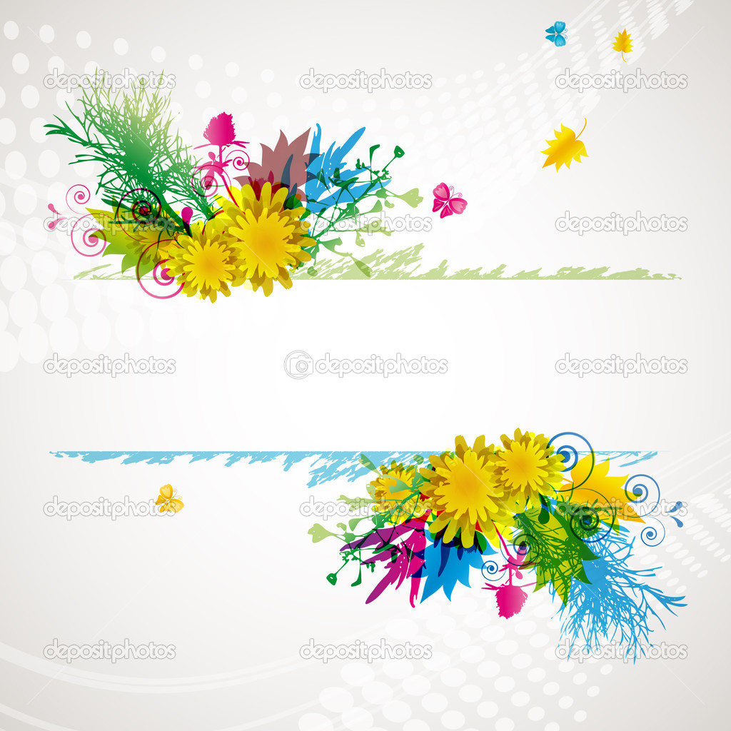 Abstract flora background - Illustration for your design. — Stock Vector #3671755