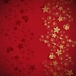 Floral abstraction congratulations — Stock Vector