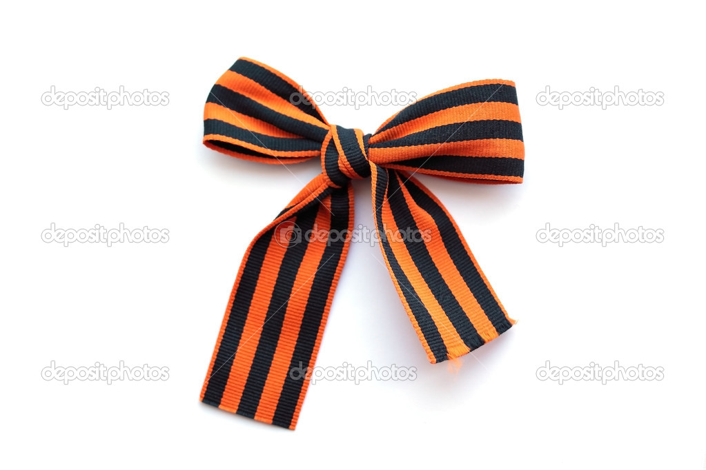 Bow from Second world war tape (symbol of Russia's memory) — Stock Photo #2850679