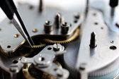 Mechanical clockwork inside — Stock Photo