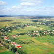 Ukrainian village - aerial view. — Stock Photo