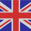 English flag fabric — Stock Photo