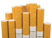 Isolated Macro Closeup Of Class A Filter Cigarettes — Stock fotografie