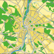 Vector illustration map of Budapest - Stock Vector