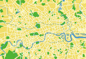 Vector illustration map of London — Vettoriale Stock