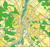Vector illustration map of Budapest — Stock Vector