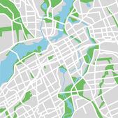 Vector illustration map of Ottawa — Stock Vector