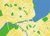 Vector illustration map of Genevese — Vettoriale Stock
