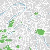 Vector illustration map of Paris — Vecteur
