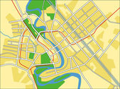 Vector illustration map of Baghdad — Stock Vector